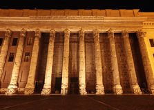 Stock Exchange building at night in Rome Stock Photography