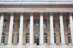 Stock exchange building in Paris, bourse Royalty Free Stock Photos