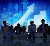 Stock Exchange Business People Conference Meeting Seminar Concep. T royalty free stock images
