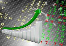 Stock exchange chart Stock Image