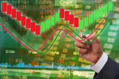 Stock exchange chart analysis concept Stock Photo