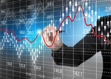 Stock exchange chart,Business analysis diagram. Stock Image