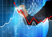 Stock exchange chart,Business analysis diagram. Stock Photos