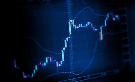 Free Stock Exchange Chart Graph Blue Toned On Computer Screen Stock Photo - 129064700