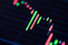 Stock Exchange Chart on Smart Phone. Business and trading finance contept. Stock exchange market chart view on smart phone screen Royalty Free Stock Images