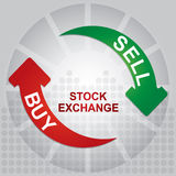 Stock exchange charts. With abstract background and diagram Stock Photo