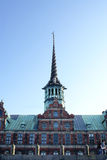 The stock exchange in Copenhagen. View of the stock exchange in Copenhagen from the boat Royalty Free Stock Image