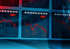 Stock Exchange Crisis Stock Image