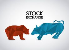Stock exchange. Design, vector illustration eps10 graphic Royalty Free Stock Photography