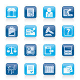 Stock exchange and finance icons. Vector icon set Stock Image