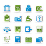 Stock exchange and finance icons Royalty Free Stock Photo
