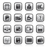 Stock exchange and finance icons. Vector icon set Royalty Free Stock Photo