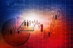 Stock exchange. Financial background. Digital illustration Royalty Free Stock Photo