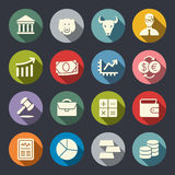 Stock Exchange flat icon set. Vector illustration Royalty Free Stock Photo