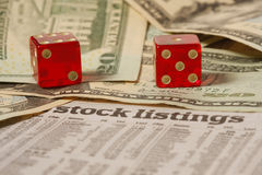 Stock Exchange Gamble Stock Images