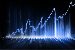 Stock Exchange Graph Royalty Free Stock Photos