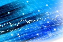 Stock exchange graph Stock Photos