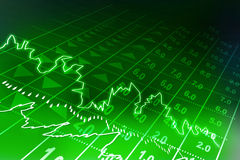 Stock exchange graph Stock Photography