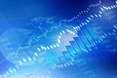 Stock Exchange Graph Royalty Free Stock Photo