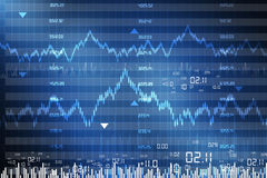 Stock exchange graph Stock Image