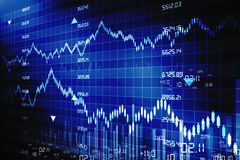 Stock exchange graph. Digital illustration of stock exchange graph Royalty Free Stock Photo