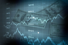 Stock exchange graph Stock Images
