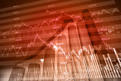 Stock exchange graph. On abstract background Stock Image