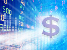 Stock exchange graph background Royalty Free Stock Images