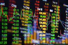 Stock exchange graph background. Stock Photos