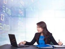 Stock exchange graph background Stock Photos
