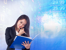 Stock exchange graph background Stock Images