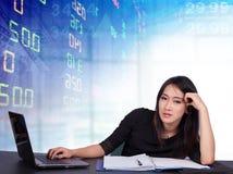 Stock exchange graph background Stock Image
