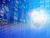 Stock exchange graph background Stock Image