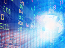 Stock exchange graph background Royalty Free Stock Photography
