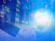 Stock exchange graph background Royalty Free Stock Image