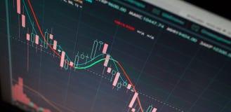 Stock exchange graph royalty free stock photo
