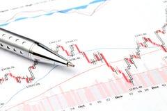 Stock exchange graph Stock Photo