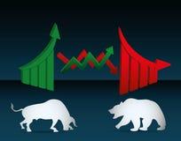 Stock exchange icon design Stock Image