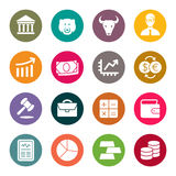 Stock exchange icon set. Vector illustration.  Royalty Free Stock Photo
