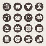 Stock Exchange icon set. Vector illustration.  Stock Photos