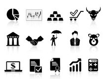 Stock exchange icons set Royalty Free Stock Photography
