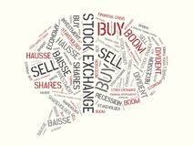 STOCK EXCHANGE - image with words associated with the topic STOCK EXCHANGE, word cloud, cube, letter, image, illustration. STOCK EXCHANGE - image with words Royalty Free Stock Image