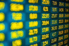 Stock exchange on-line. Financial data- stock exchange - computer screen Stock Photography
