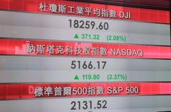 Stock exchange market index Hong Kong Royalty Free Stock Image