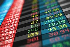 Stock exchange market trade data Stock Image