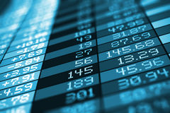 Stock exchange market trade data Stock Photos
