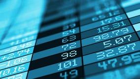 Stock exchange market trade data stock footage