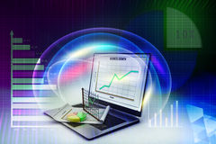 Stock exchange market trading, accounting Stock Photography