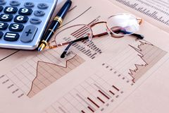 Stock exchange and markets graphic detail. Business and financial concept.Bank accounting and invest background royalty free stock image