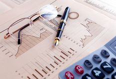 Stock exchange and markets graphic detail. Business and financial concept.Bank accounting and invest background stock photography